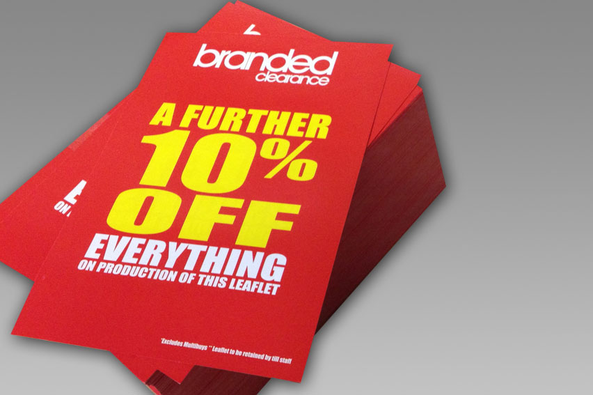 High Quality Flyer & Leaflet Printing. Any quantity. Competitive prices.