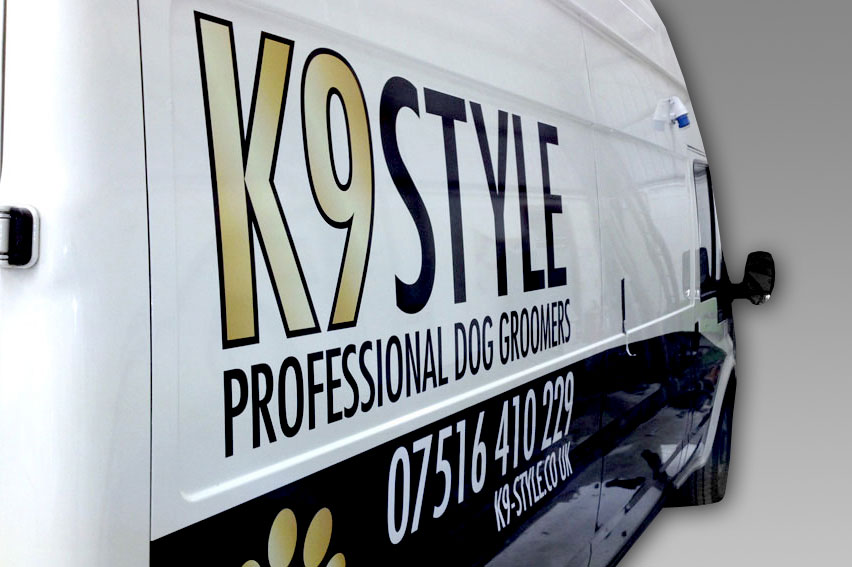 Partial Vehicle Wrap. Combining both digital vehicle graphics, computer cut vinyl and Avery wrapping vinyl
